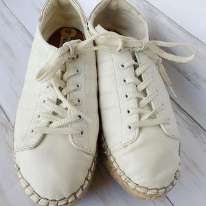 Steve Madden Tamilyn Espadrille Sneakers Gold Trim